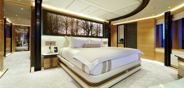 Bedroom yacht panel